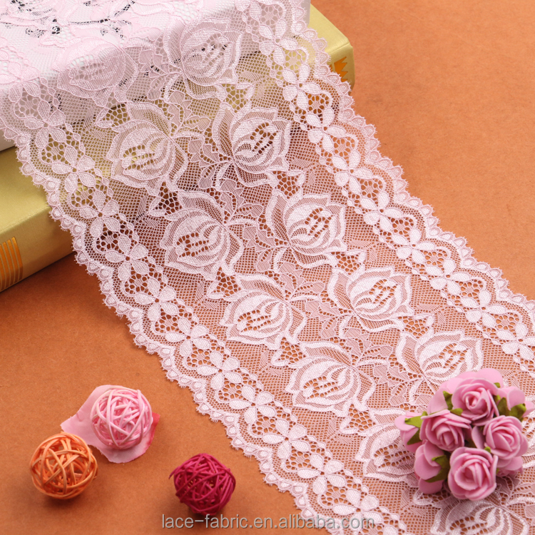 Professional Manufacturer Supplier China Elegant elastic lace fabric and lace trim