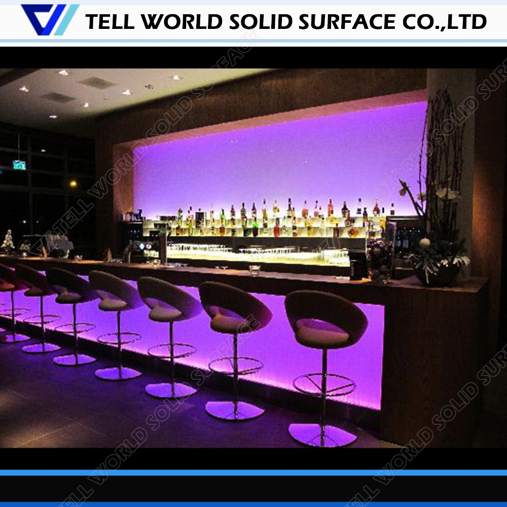 led commercial bar counter restaurant bar counter for sale