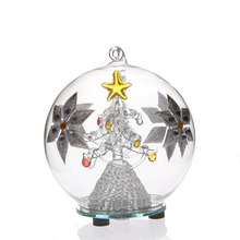 wholesale glass ball with christmas tree inside lighted up