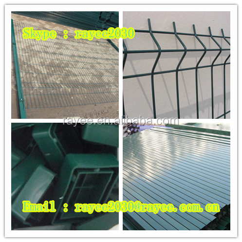 garden fencing galvanized nylofor 3d panel metal fencing plastic lattice fence with V folds , valla curvada