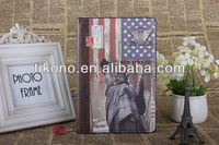 Fashionable retro book leather pu case for ipad mini with high quality