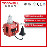 underwater test conector piercing well insulation plastic clamps