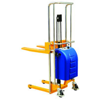 Electric Hydraulic Fork Lift Type Forklift Half Pallet Stacker