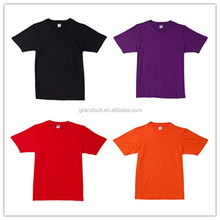 Casual round neck 100% cotton custom plain long man tshirt