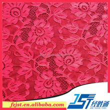 Chemical red wedding dresses lace fabric market in dubai