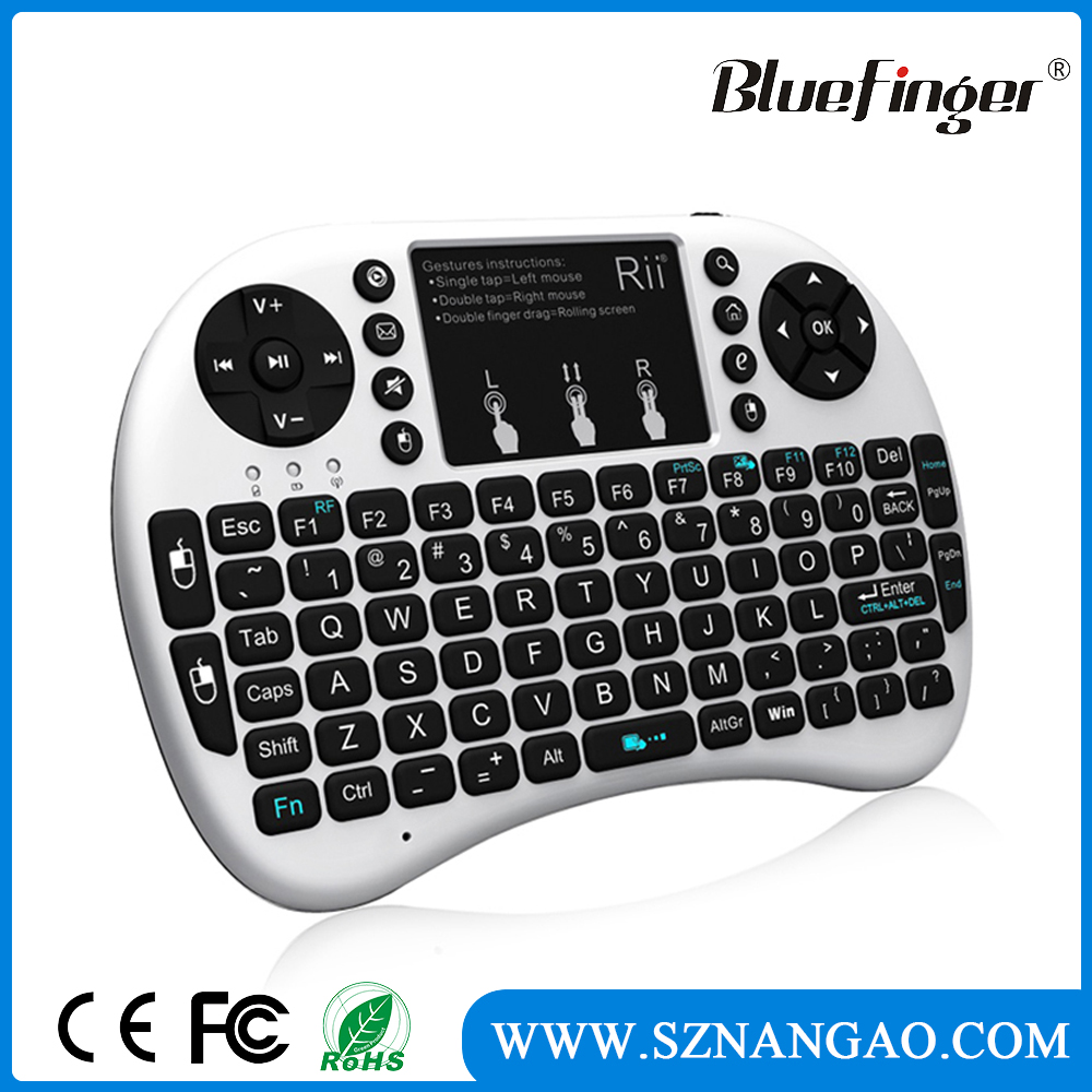 Factory price i8 2.4GHZ Mini Wireless Qwerty Touchpad Keyboard Mouse for smart TV box