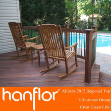 swimming pool side wood composite decking