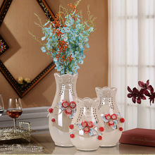 Home decorations ceramic flower vase for wedding table centerpieces