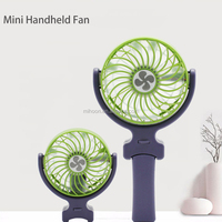 360 Degree Rotating USB Rechargeable Foldable Mini Handheld Fan with Three Speeds