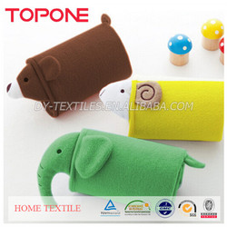 Animal shapeds cheap colorful cotton winter lovely baby blanket toy