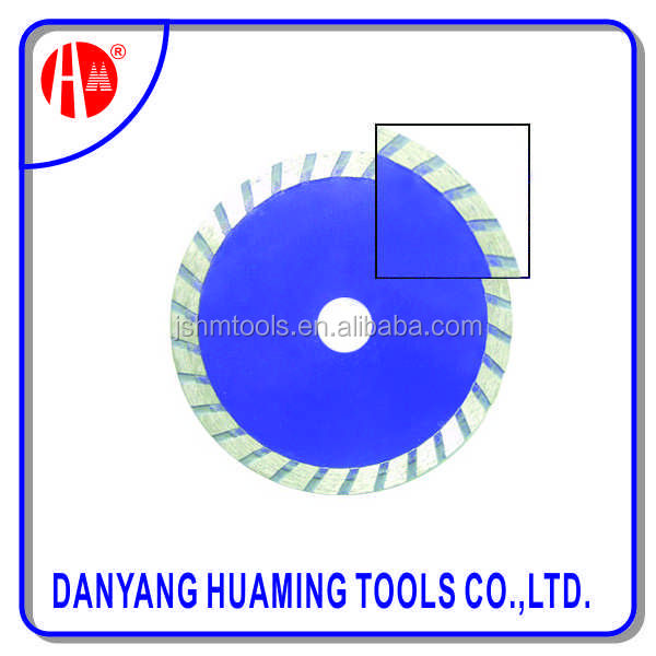 fast cutting sintered turbo concrete blade for higher power walk behind saw