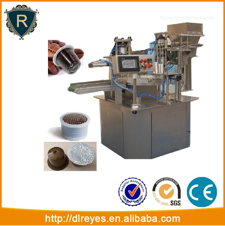 Automatic rotary nespresso k cup coffee powder filling sealing machine