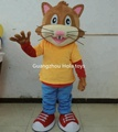 HOLA yellow cat mascot costume for adult