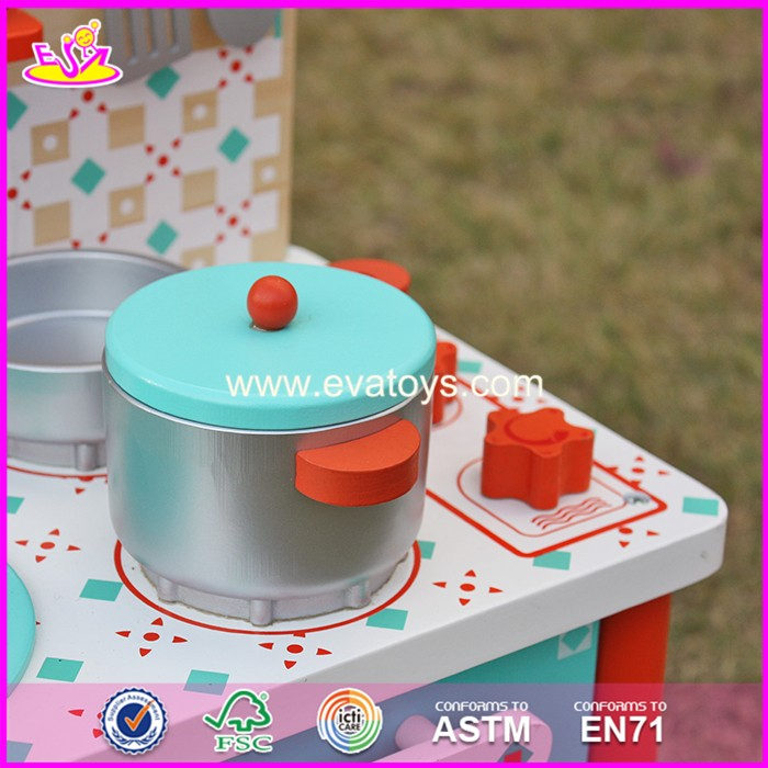2017 New products children best toy wooden play kitchen sale W10C225