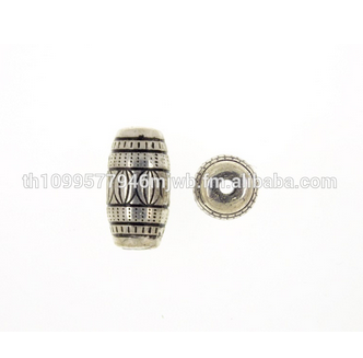 Barrel Plastic Bead with silver plated