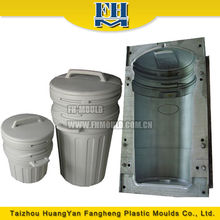 china supplier Taizhou huangyan 250L blow mold plastic trash can mold blowing mold peru