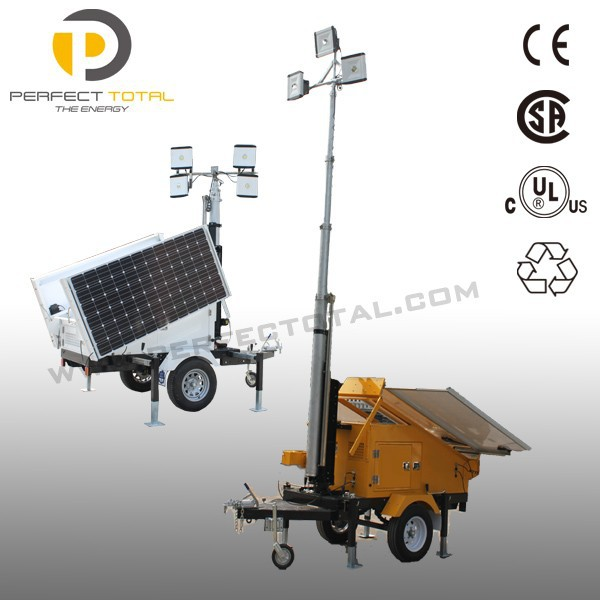 Portable Electric Telescopic LED Light Tower