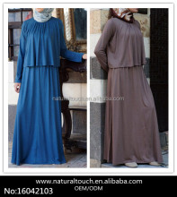 Muslim Layered Long Sleeves Maxi Dress For Women 2016(16042103)