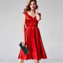 New style vintage red dress sexy prom dress 2017 LY-B257#
