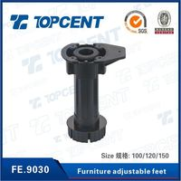 ABS/PP adjustable leveling feet for cabinet