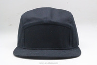 2016 Fashion Wholesale Custom 5 Panels Cotton Twill Unstructured Blank Plain Snapback Cap and Hat for Sale