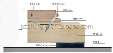 Maple indoor sport wood flooring basketball tennis court sport wood flooring