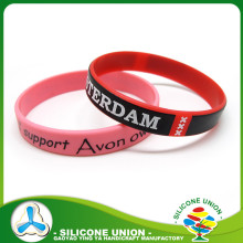 hot selling customized screen printed pattern rubber bracelets personalized