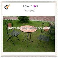 outdoor patio furniture tile top table dining bistro table set