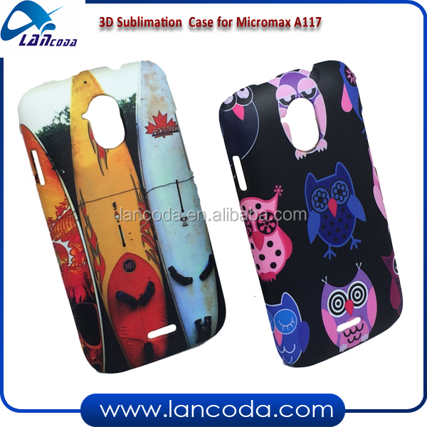 Good prices 3D sublimation cover case for Micromax A116,3d vacuum sublimation phone case machine printing film