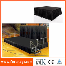 Folding stage portable modular stage stage scene