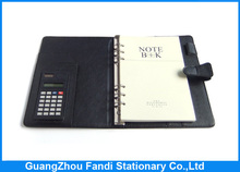 2016 new design organizer planner notebook diary with pen and calculator