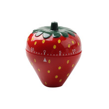 Customized Cute Strawberry Shape Mechanical Kitchen Timer
