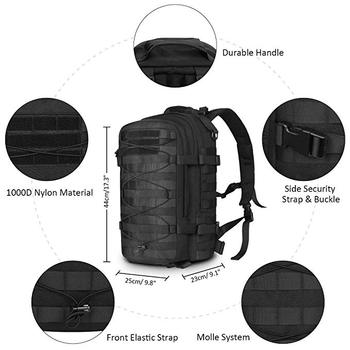 Durable Military Assault Pack Army Molle Bug Out Bag 1000D Nylon Daypack for Camping Hiking Travel Gift Bag
