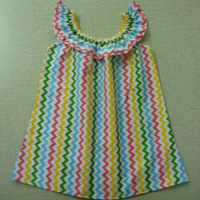 hot sale baby girl rainbow stripe ruffle neck dress sleeveless casual home dress