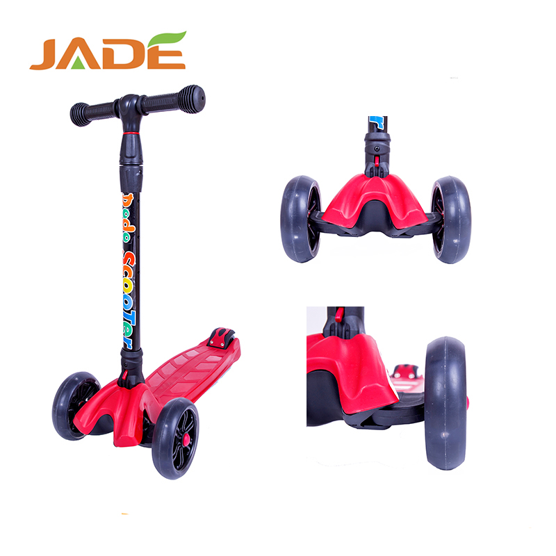 New Folding Adjustable Handle 4 Wheel Kids Kick Scooter push pedal foot mini scooter