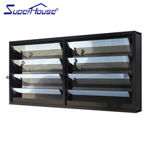Compact interior canberra window shutters/toughened glass louver