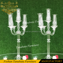 elegant halloween used 5 arm clear crystal wedding candelabra