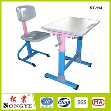 Contemporary hotsell adjustable student desk single seat