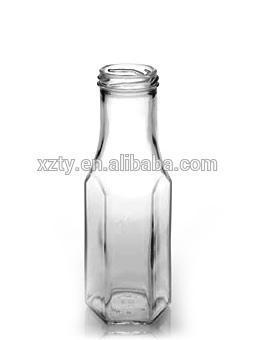 250ml Hexagon Sauce Bottle with Caps