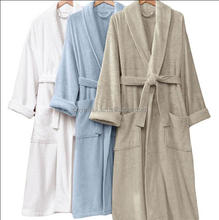 Hotel home wholesale unisex 50/50 poly cotton bathrobe