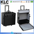 Black Aluminum Travel Case/trolley carrying case with 12trays
