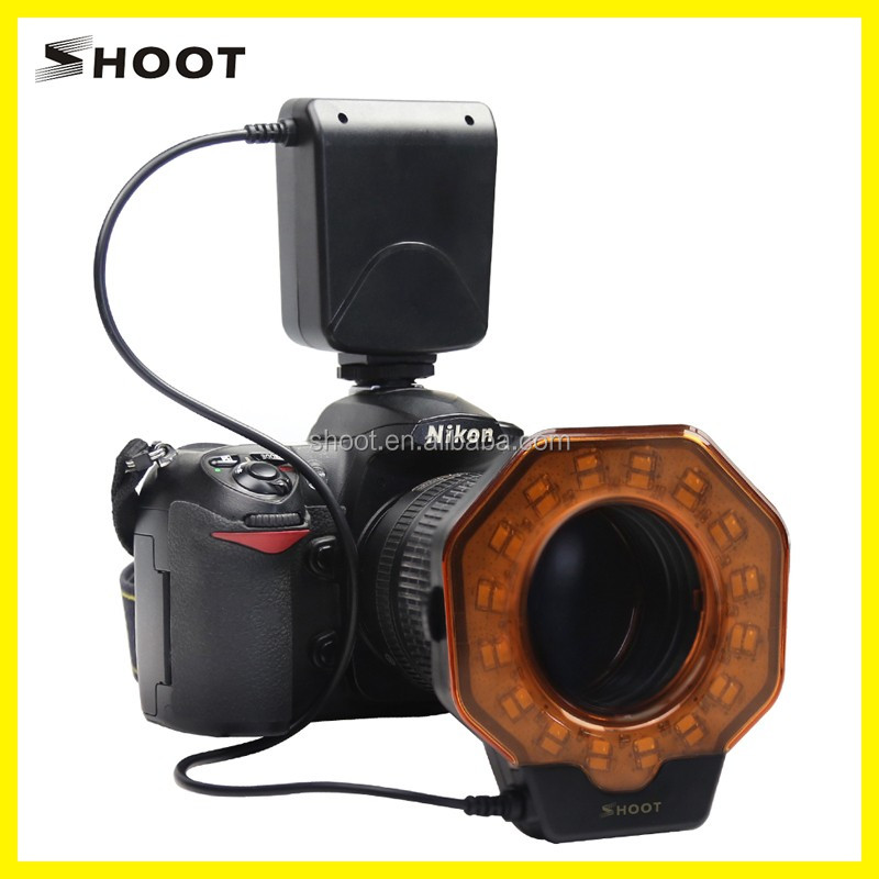 SHOOT SL-102C Macro LED Ring Flash for DSLR for Canon/Nikon DSLR camera