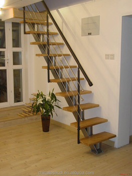 K007 Modern carbon Steel balustrade stairs handrailing
