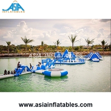 Lake Water Floating Island/ Inflatable Floating AquaPark, Water Sports Park Games For Sale