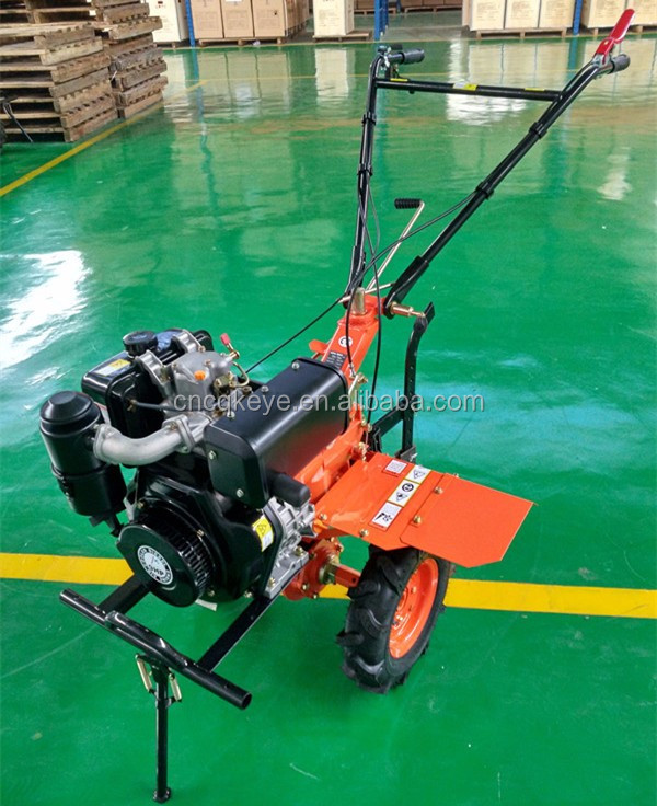 9hp Multi-function Diesel Gear Driving Cultivator Tractor power tiller with electric starter