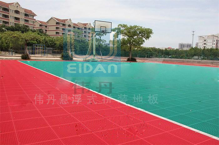 Interlocking modular basketball court sports flooring