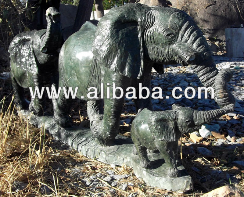 Original Hand carved Herd of Elephants Opal Stone Sculpture Wholesale Suppliers