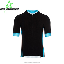 Blank Black Stand Collar Men Bike Jersey Cycling Custom Jersey Sports Shirts OEM