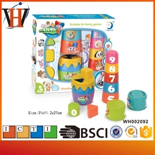 Children educational stack cups toys baby intelligent plastic cup game