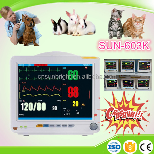 Handle and Portable Patient Monitor Veterinary Basic Parameters (SPO2,NIBP,TEMP,RESP,HR),Patient Monitor